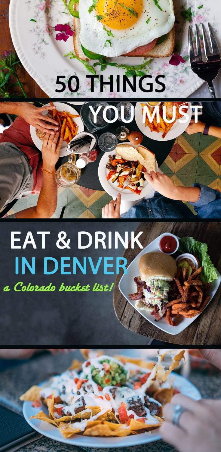 Food porn has quickly become a way of life, and in the Mile High, there is no shortage of outrageous meals or beverages to shoot. From over the top cocktails to larger than life desserts, these Denver dishes were crafted to be as photogenic as they are tasty. Here are the best restaurants downtown in Colorado from cheap bites to bucket list brunch and dinner spots. #denver #food #colorado