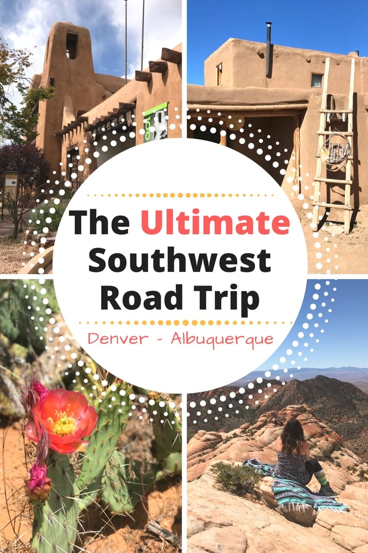 The ultimate USA Southwest road trip driving from Denver to Albuquerque. An awesome Route 66 adventure itinerary through New Mexico with stops in Colorado Springs, Taos, and Santa Fe. Put it on your United States and America travel bucket lists for hiking, natural wonders, and wanderlust.