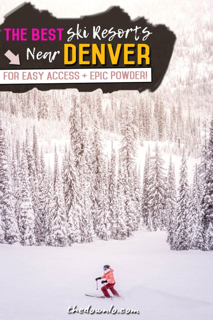 Planning a Colorado ski or snowboard trip or Denver winter getaway? Check out the closest (and best) ski resorts to Denver for all your snow filled, powder day fun. Here's how to enjoy a bucket list family vacation in the Rocky Mountains without wasting hours in the car. #colorado #denver #winter #usa #america #ski