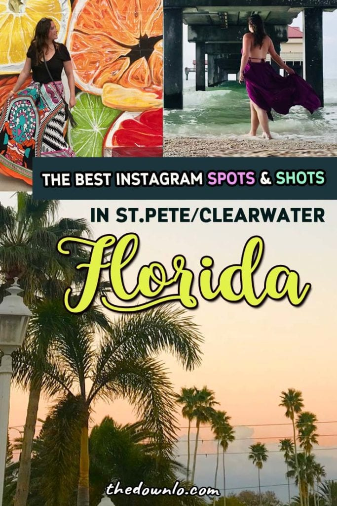 Looking for fun things to do in Clearwater or St. Pete area of Florida (outside Tampa)? It's the perfect place to snowbird. Add these photo spots to your bucket list -- the Dali Museum, the Don Cesar hotel, the botanic gardens, and of course, the beach! #fl #travel #usa #america #florida #winter