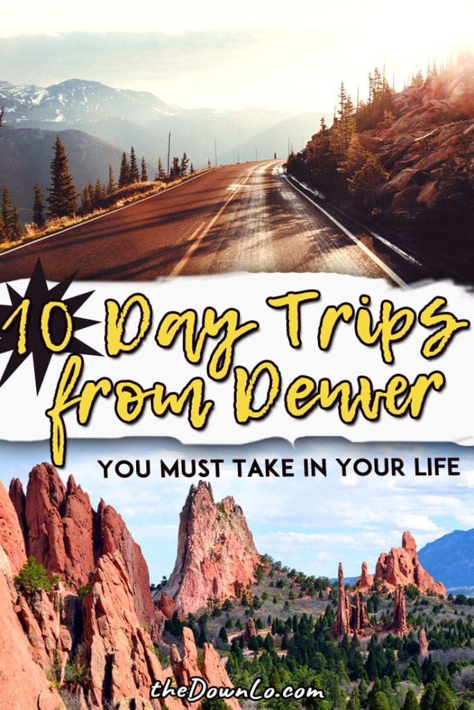The best day trips from Denver, Colorado to have on your bucket lists with kids. Fun things to do in the Rocky Mountains, surrounding cities like Boulder and Colorado Springs, and the national parks in winter and summer. Pack the car and make it a road trip for hiking or photography! This is travel vacation goals. #colorado #denver #roadtrips
