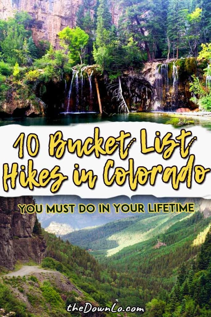 The best trails and hikes in Colorado for mountains, waterfalls, and epic photography views for beginners to experts to get some of that mountain magic. Ideas for day trips near Denver, Boulder, Rocky Mountain National Park, and Colorado Springs.  #hiking #usa #adventure #travel #outdoors #nature #hike