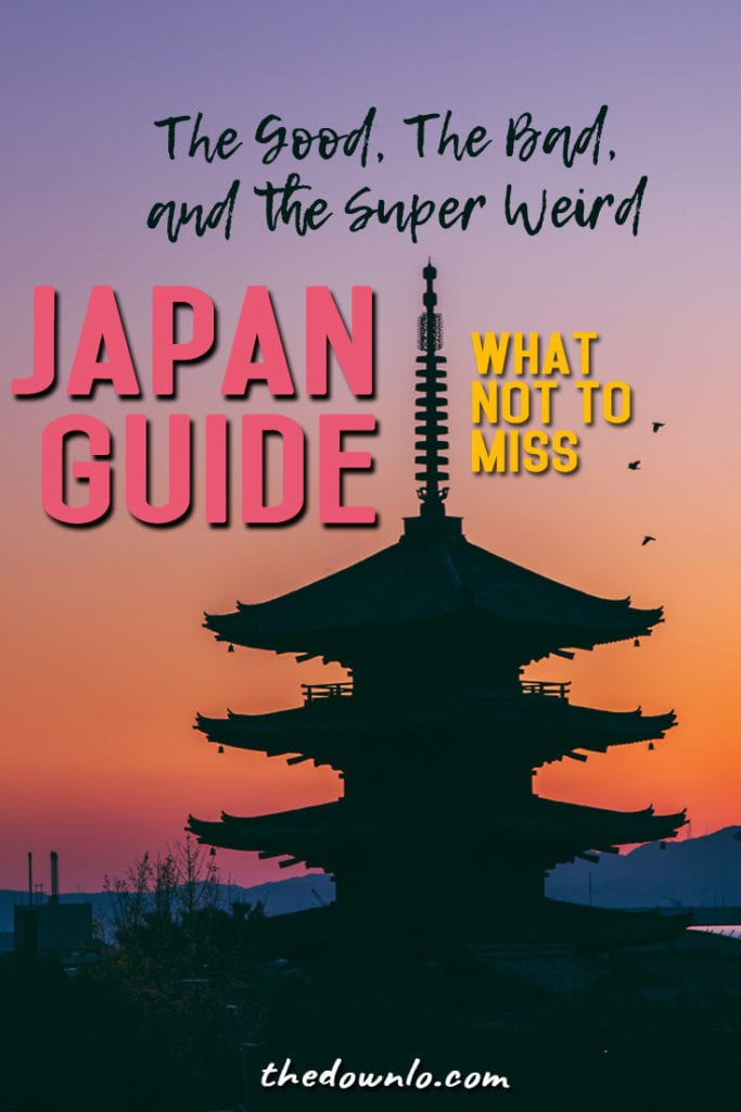 Things to do in Japan in Osaka, Tokyo, and Kyoto for culture, food, cherry blossoms, temples, onsen, theme cafes, and even more wtf moments.