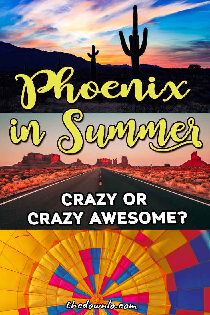 Things to do in Phoenix, Arizona in summer. Travel tips for beating the desert heat and things to do with kids, families, adventure, and free fun. It's a great budget trip destination in the off-season with ideas for road tripping around the Grand Canyon state and activity suggestions for food, parks, art, gardens and selfie spots in one of America's beautiful Southwest cities. #vacations #summer #arizona #az #phoenix