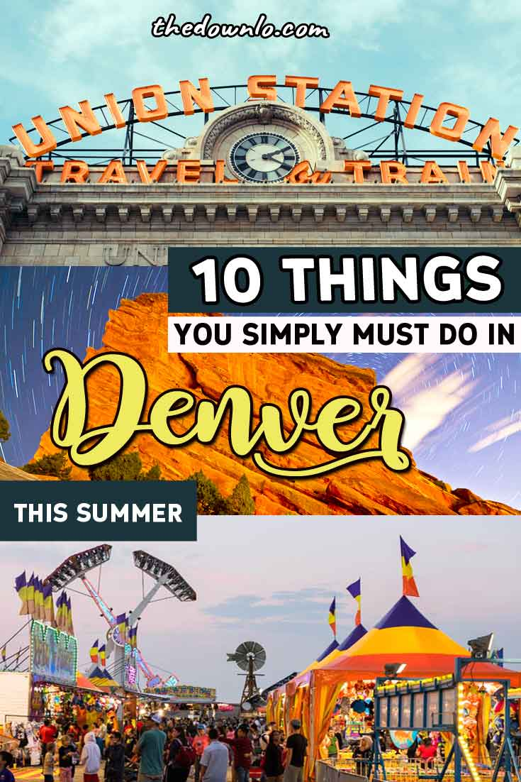 Summer in Denver is special. Sure you can hightail it to the Rocky Mountains to hike, bike or raft, but there are plenty of things to do right downtown in the city.  For travel enthusiasts, here's how to dominate the Mile High City this season with kids or photography lovers. Put these fun activities on your bucket list and plan your USA road trips vacations to Colorado today. #denver #summer #travel #vacation #roadtrip