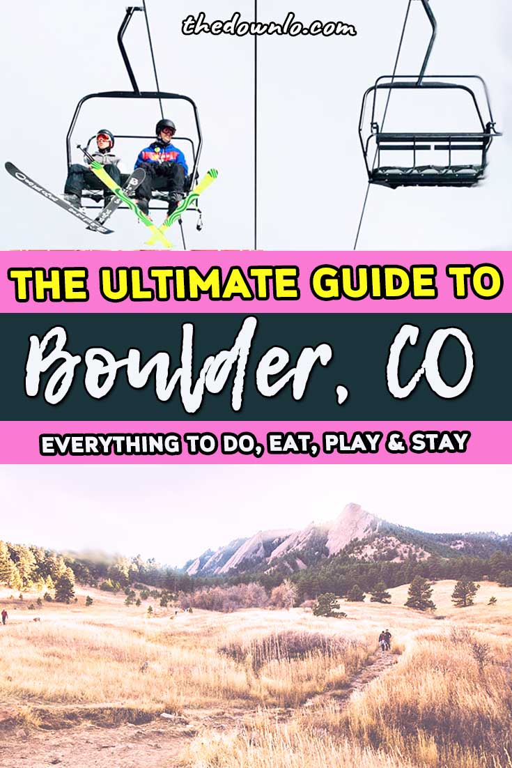 Looking for things to do in Boulder, Colorado? A quick road trip from Denver, the Rocky Mountains or Estes Park, here are the best restaurant options, photography, shopping and outdoor hiking spots in winter and summer with kids or without from an 8 year local for your bucket lists. #mountains #usa #america #travel #outdoors #colorado #boulder #co
