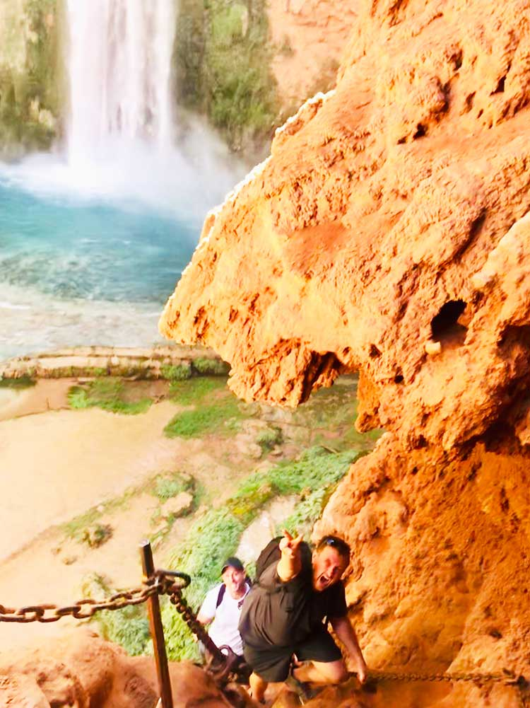 The ultimate guide to the Havasupai Falls hike in Arizona from complete packing list to camping, backpacking, lodge, and photography info. Tips and pictures for how to score a permit, where in the campground to sleep, photo tips, waterfall inspiration, and useful info about the helicopter, food and clothes to bring, and the trail. #pics #havasupai #havasu #waterfalls #arizona #grandcanyon  #waterfall #hiking