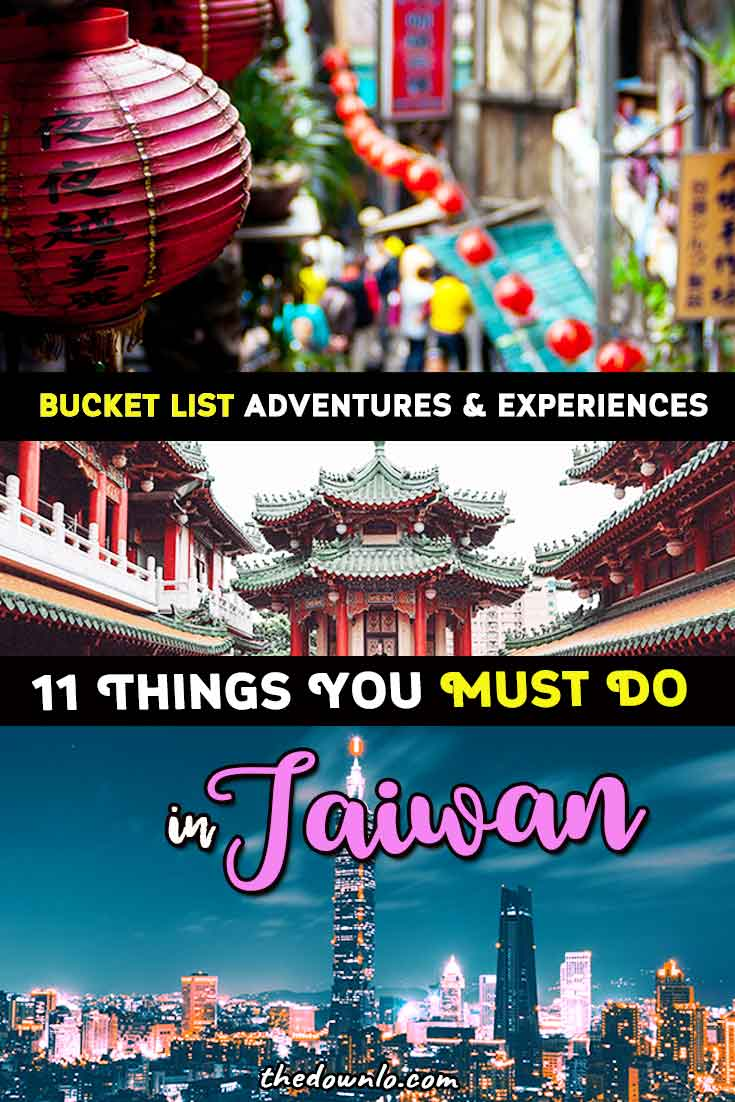 Taiwan Travel Guide - bucket list experiences and things to do for photography, beaches, culture and food in Taipei, Taichung, Taroko Gorge, Hualien, and beyond. The best destinations and cities for adventure, nature, beach, hot springs, and city. Tips, photos and itinerary ideas for outdoor lovers, family with kids, and downtown. Don't miss the Lantern festival, national parks, and beautiful places. #bucketlists #taipei #taiwan #asia #travel