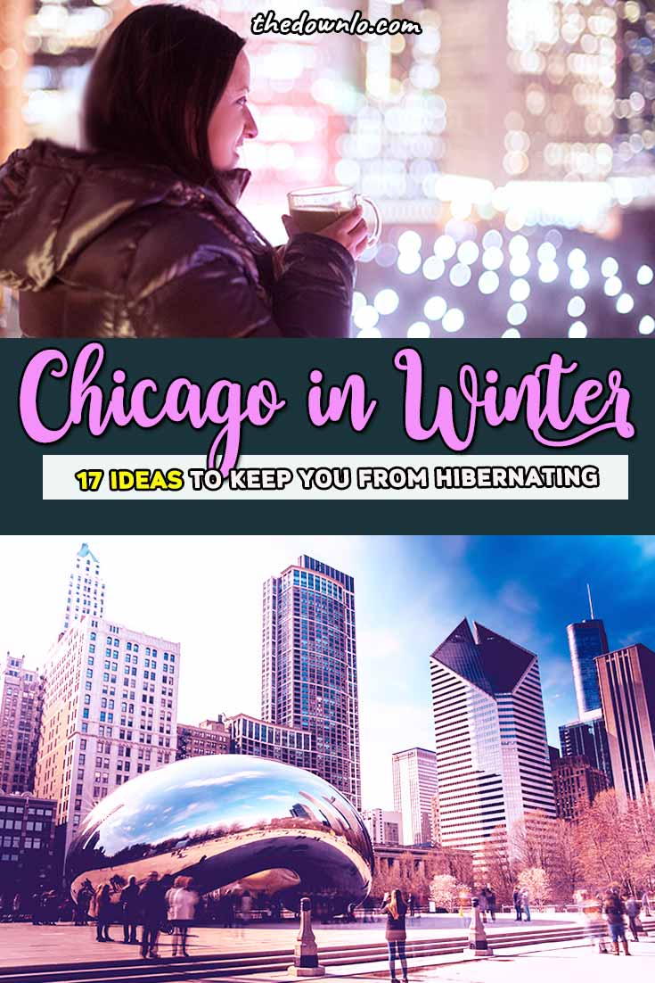If you're looking for things to do in Chicago for a winter weekend, we have plenty of cold weather free and unique fun downtown in the Windy City from what to do in Chicago during the holidays to beautiful places to ice skate, shop at Water Tower, food, and photography for Lake Michigan. Put it on your bucket lists -- the best cheap, local, and solo recommendations with kids, a family, or couples. #chicago #winter #travel #trips #holidays