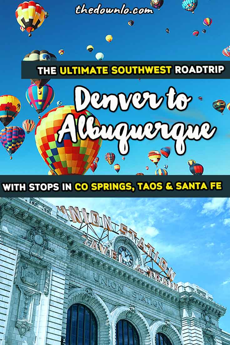 The ultimate Southwest road trip itinerary through the USA. A Southern Colorado road trip from Denver to Albuquerque, New Mexico (with map). For photography tips and adventure travel through Route 66 with stops in Colorado Springs, Taos, and Santa Fe. Put it on your United States and America travel bucket lists for hiking, natural wonders, and wanderlust destinations with kids or without. #co #nm #southwest #roadtrips