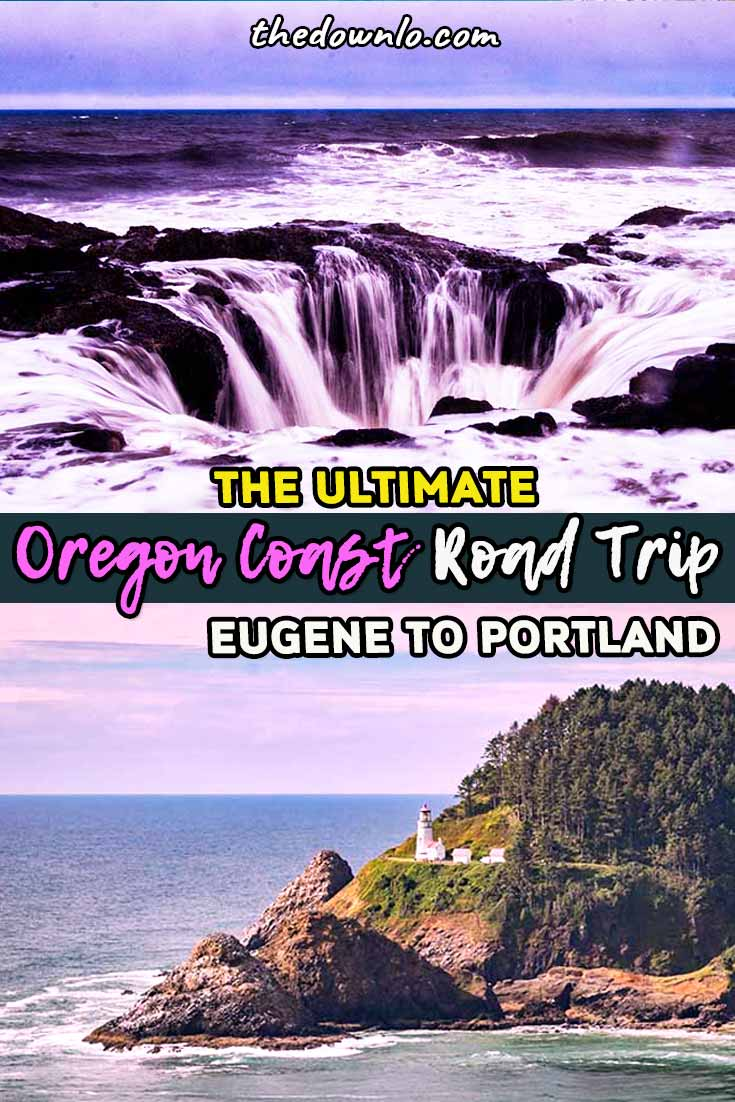 Central Oregon Road Trip Itinerary with map: Eugene to Portland driving up the coast. Bucket list things to do for photography, hiking, nature, food, waterfalls, and adventure. A travel guide for places to visit, Instagram photos and pictures, and fall, winter, summer and spring activities. #scenery #bucketlists #travel #oregon