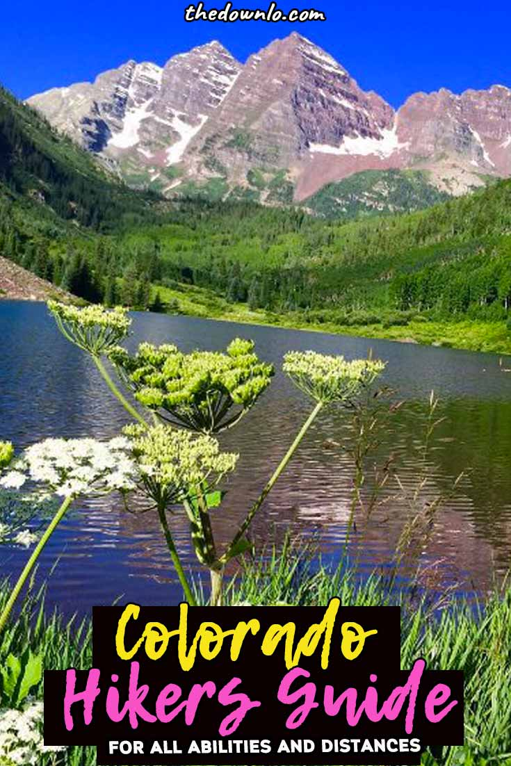 The ultimate Colorado hiking guide for awesome trails with mountains, waterfalls, and epic photography views for beginners to experts to get some of that mountain magic and wanderlust exploring America. Summer pictures and ideas for day trips near Denver, Boulder, Estes Park, Rocky Mountain National Park, and Colorado Springs. Nature, adventure, and beautiful places guaranteed. Because getting outdoors is one of the best things to do in Denver and fun vacation ideas with kids. #colorado #hikes