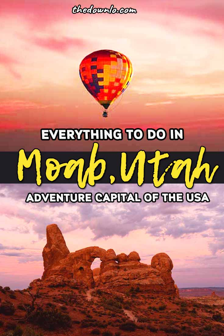 The best things to do in Moab from epic adventures in Arches and Canyonlands National Parks to mountain biking, hiking and rock climbing. Easy road trips from Colorado or Utah, this fun vacation destination must be on outdoor bucket lists. This travel guide has all the best hikes, photography and adventure spots. #travel #summer #roadtrip #moab #utah #nationalpark #adventures