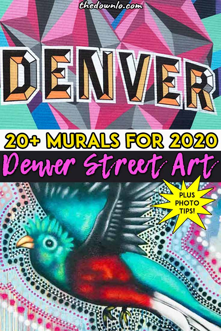 Looking for things to do in Denver, Colorado this weekend? Check out the downtown street art and murals for photography and pictures. The Rino and Lodo neighborhoods are especially good for Instagram spots, views, breweries, and travel attractions. Make it a must do photoshoot this summer or fall. #denver #streetart #murals #usa #southwest #america