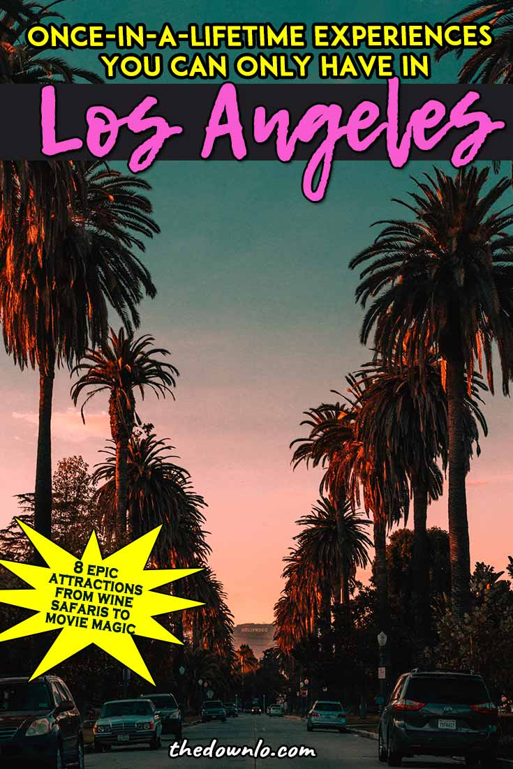Fun things to do in LA - Unexpected free and cheap attractions in Los Angeles with kids, with teens, or with friends from trendy Instagram spots to cool local California bucket list things to do. The best, most unique and unusual vacations for your bucket lists from Disney to Malibu Wine Safaris. #la #losangeles #travel
