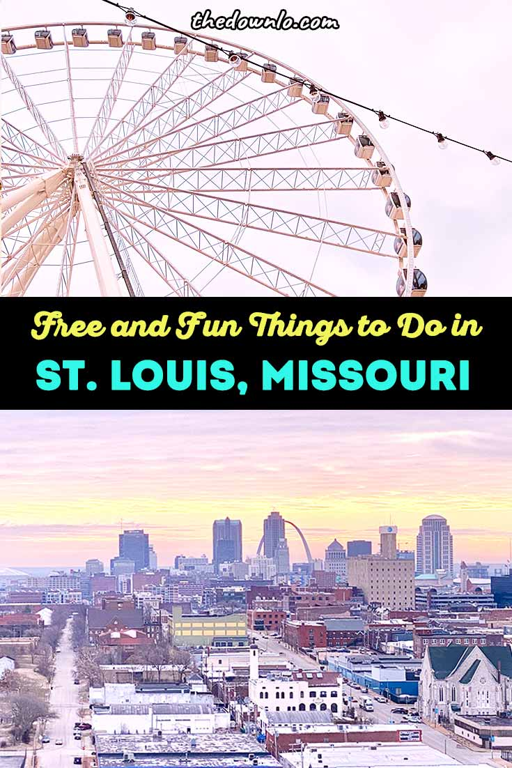 Free and fun things to do in St. Louis, Missouri in winter, spring and summer. Plan romantic or family vacations to the Midwest with travel ideas, restaurants and attractions in Grand Center arts district and Union Station. See Gateway Arch national park, City Museum, and other interactive art and museums for a culture filled weekend trip. #stl #stlouis #stlmo #midwest #travelguide